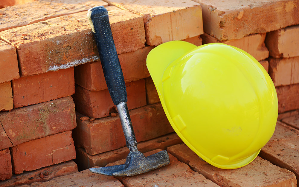 Hardhat and hammer