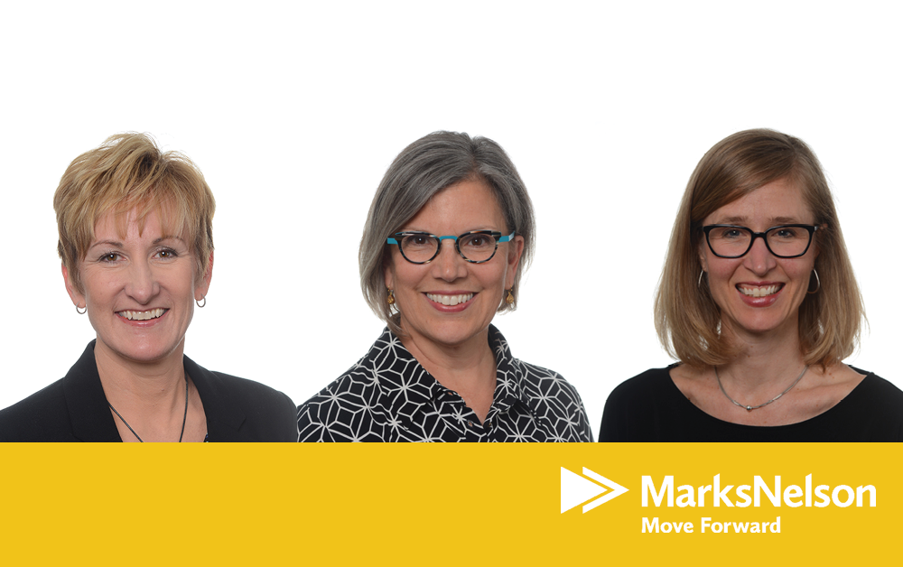 Three female partners at MarksNelson