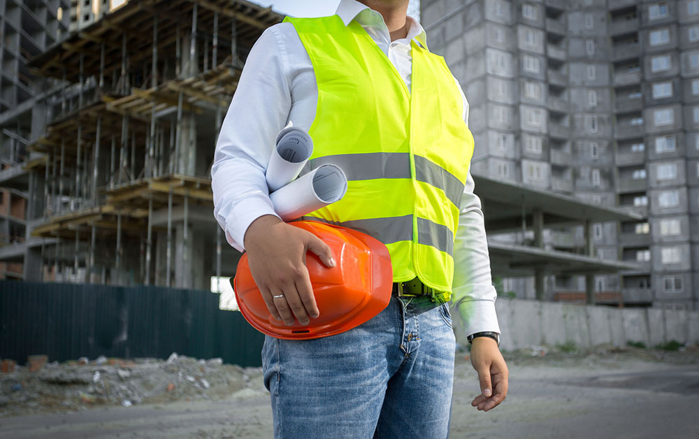 Construction worker on a job site